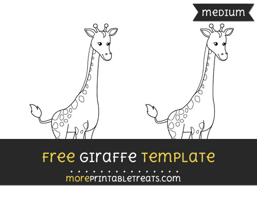 Free Giraffe Template - Medium