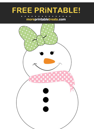 Free Printable Girl Country Snowman Cut Out