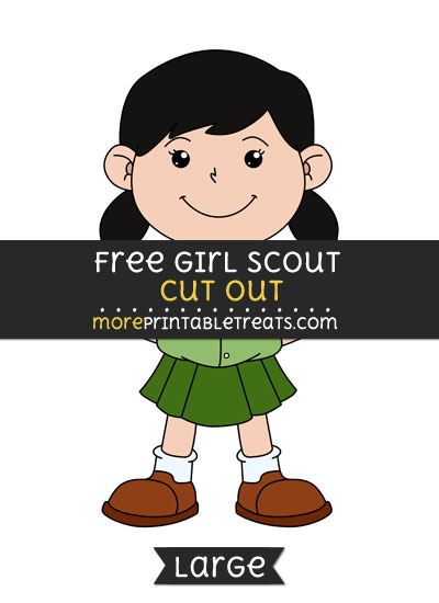 Free Girl Scout Cut Out - Large size printable