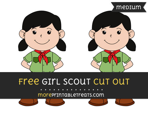 Free Girl Scout Cut Out - Medium Size Printable