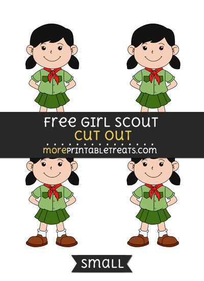 Free Girl Scout Cut Out - Small Size Printable