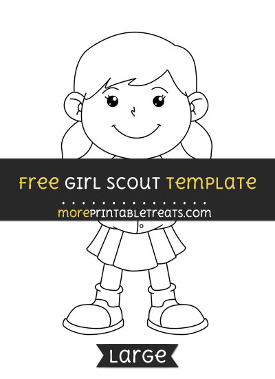 Free Girl Scout Template - Large