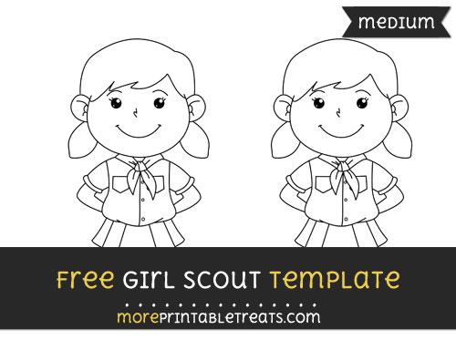 Free Girl Scout Template - Medium