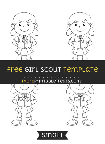 Free Girl Scout Template - Small