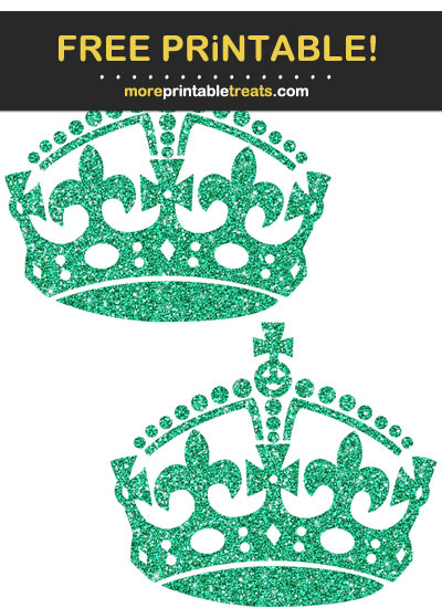 Free Printable Glittery Emerald Green Keep Calm Crowns