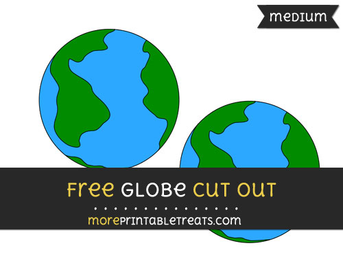 Free Globe Cut Out - Medium Size Printable