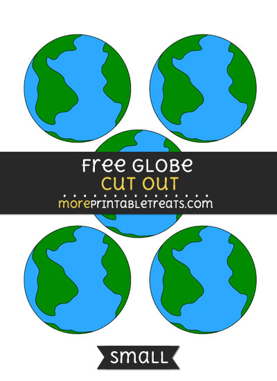 Free Globe Cut Out - Small Size Printable