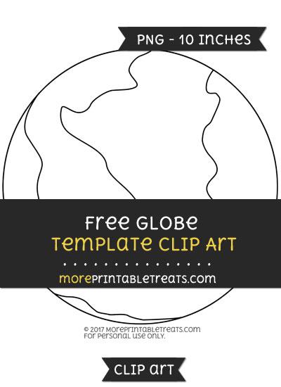 Free Globe Template - Clipart