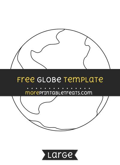 Free Globe Template - Large