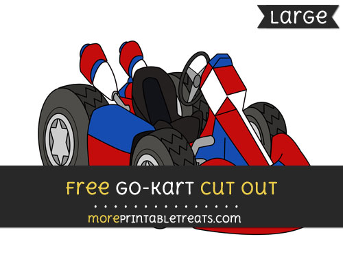 Free Go Kart Cut Out - Large size printable