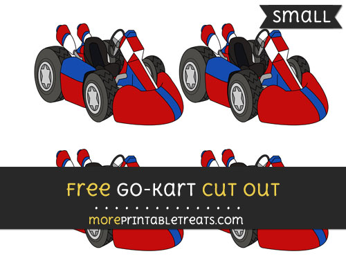 Free Go Kart Cut Out - Small Size Printable