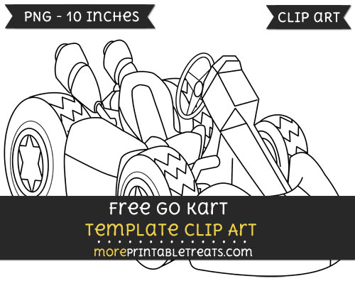 Free Go Kart Template - Clipart