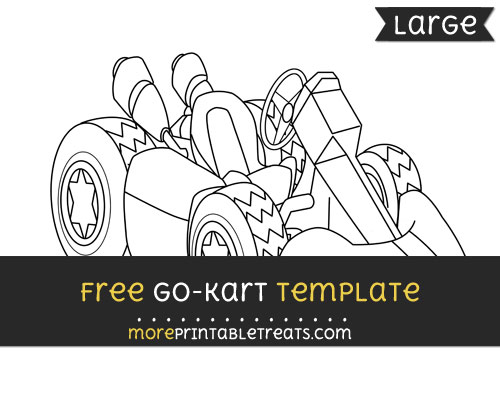 Free Go Kart Template - Large
