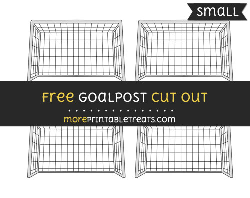 Free Goalpost Cut Out - Small Size Printable