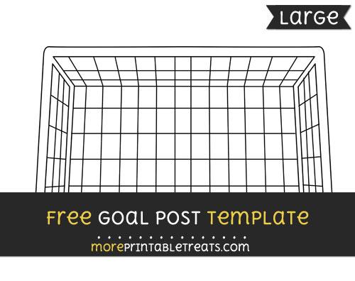 Free Goalpost Template - Large