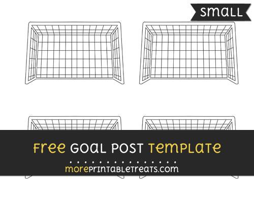 Free Goalpost Template - Small