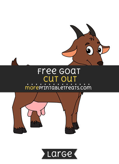 Free Goat Cut Out - Large size printable