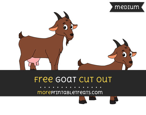 Free Goat Cut Out - Medium Size Printable