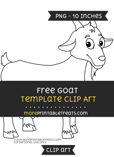 Free Goat Template - Clipart