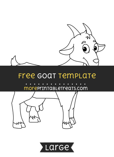 Free Goat Template - Large