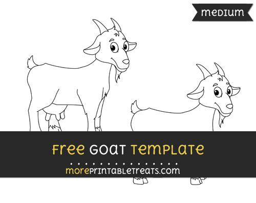Free Goat Template - Medium