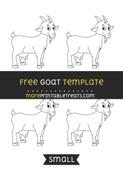Free Goat Template - Small