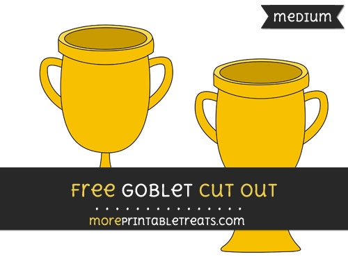 Free Goblet Cut Out - Medium Size Printable