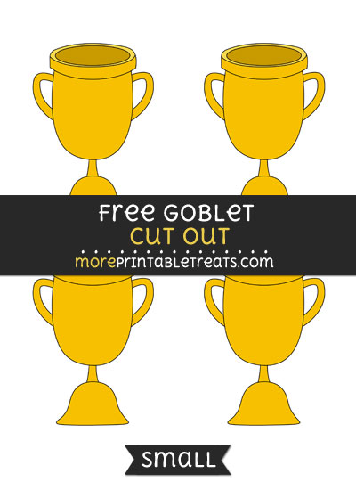 Free Goblet Cut Out - Small Size Printable