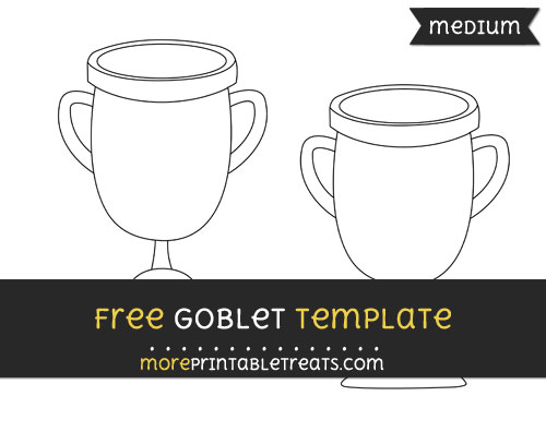 Free Goblet Template - Medium