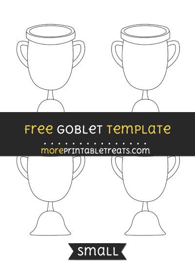 Free Goblet Template - Small