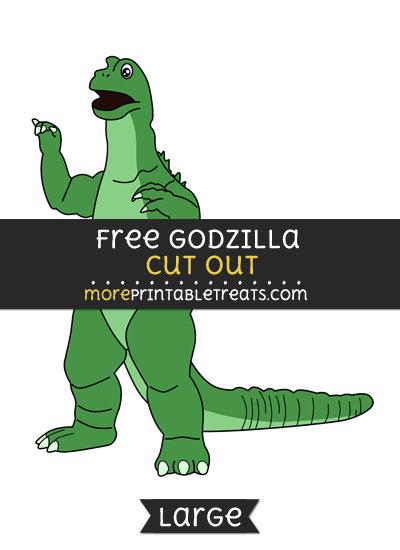 Free Godzilla Cut Out - Large size printable