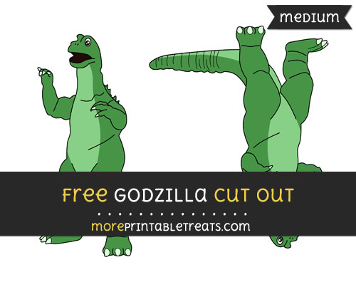 Free Godzilla Cut Out - Medium Size Printable