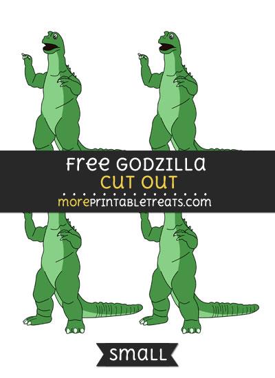 Free Godzilla Cut Out - Small Size Printable