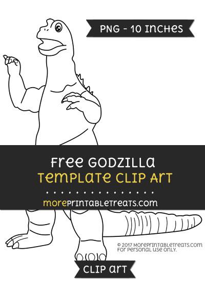 Free Godzilla Template - Clipart