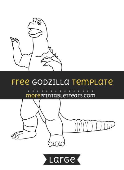 Free Godzilla Template - Large