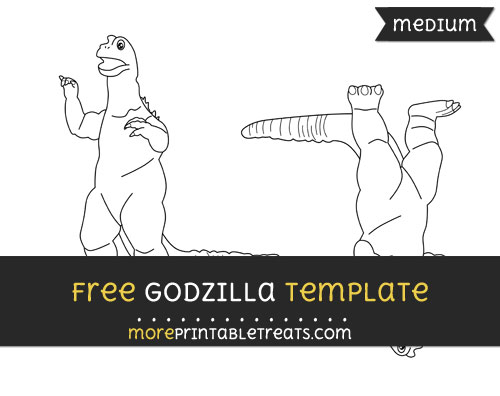 Free Godzilla Template - Medium