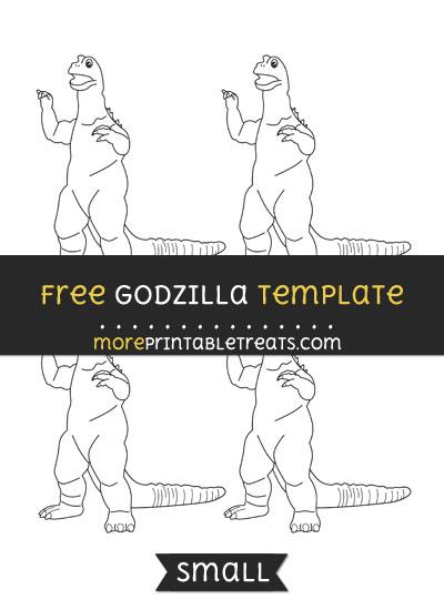 Free Godzilla Template - Small
