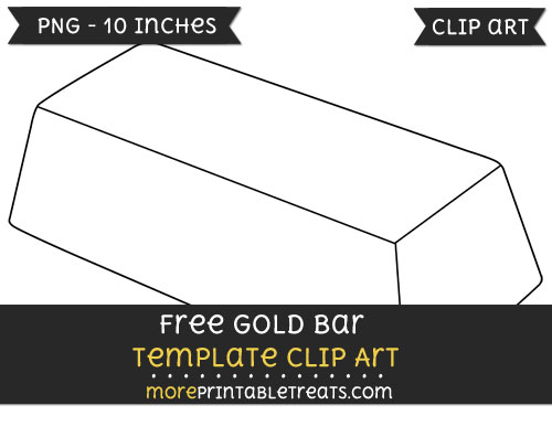 Free Gold Bar Template - Clipart