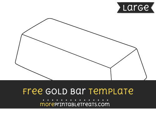 Free Gold Bar Template - Large