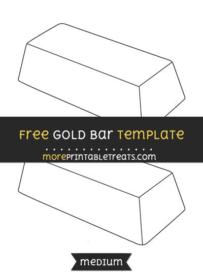 Free Gold Bar Template - Medium