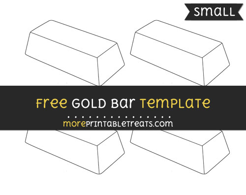 Free Gold Bar Template - Small