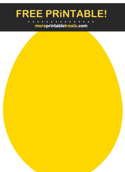 Free Printable Gold Egg Cut Out