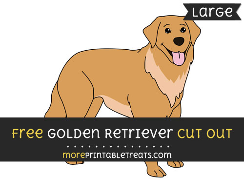 Free Golden Retriever Cut Out - Large size printable