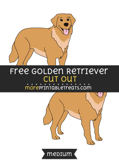Free Golden Retriever Cut Out - Medium Size Printable