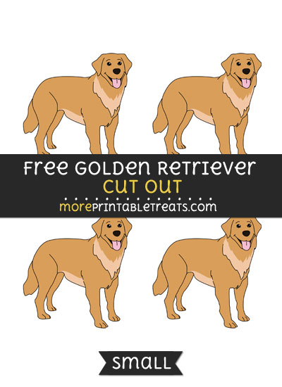 Free Golden Retriever Cut Out - Small Size Printable