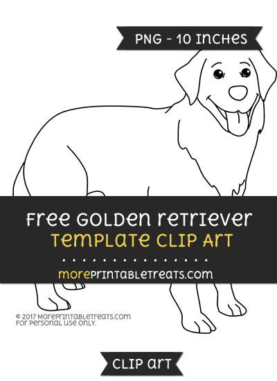 Free Golden Retriever Template - Clipart