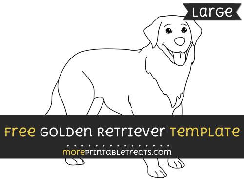 Free Golden Retriever Template - Large