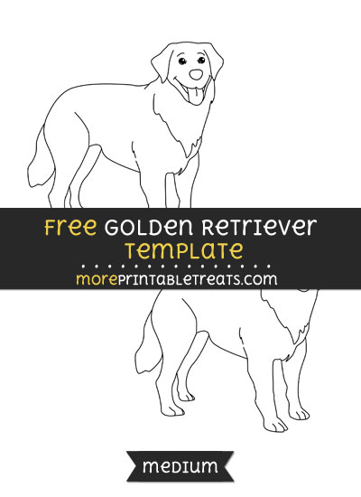 Free Golden Retriever Template - Medium