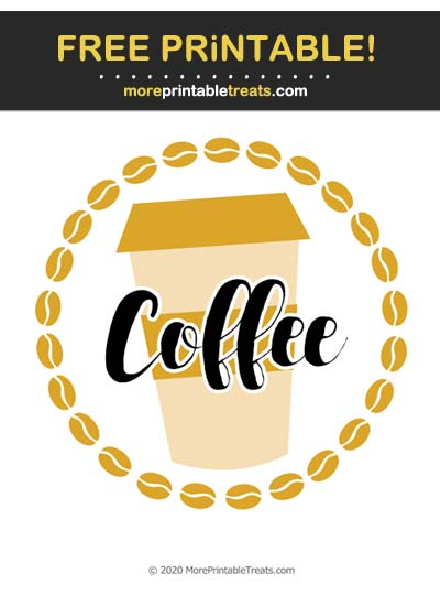 Free Printable Goldenrod Coffee Icon Cut Out