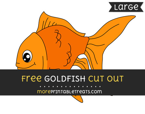 Free Goldfish Cut Out - Large size printable